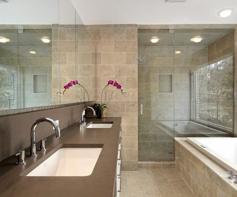 Master Bathroom in Luxury Home